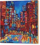 City After The Rain Wood Print