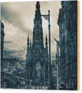 Edinburgh City Wood Print