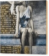 City Angel -2 Wood Print