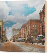 City - Arkansas - Main St 1925 Wood Print