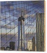 City Between The Bridge Wood Print