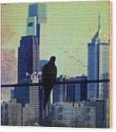 City Bird Wood Print