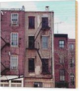 City Block Philly Wood Print