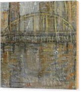 City Bridge Wood Print