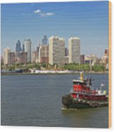 City - Camden Nj - The City Of Philadelphia Wood Print