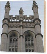 City Church Tower Wood Print