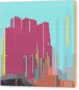 City Color 3 Wood Print