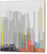 City Color Wood Print