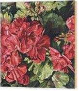 City Flowers Red Geranium Wood Print