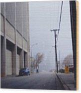 City Fog Wood Print