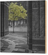 City Forest Wood Print