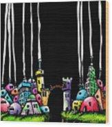 City Gap Wood Print