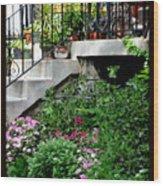 City Garden Wood Print