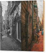 City - Germany - Alley - The Other Half 1904 - Side By Side Wood Print