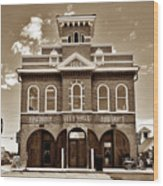 City Hall And Fire Department S Wood Print