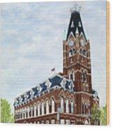 City Hall circa1873 Belleville Ontario Wood Print