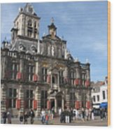City Hall - Delft - Netherlands Wood Print