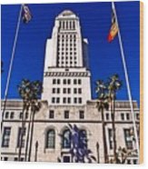 City Hall La Wood Print
