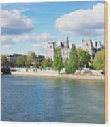 Seine River Embankment Wood Print