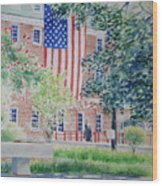 City Hall Old Town Alexandria Virginia Wood Print