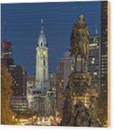 City Hall Philadelphia Wood Print