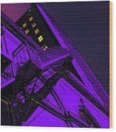 City Hall Stairs, In Indigo Wood Print