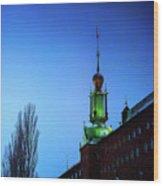 City Hall Tower Wood Print