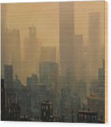City Haze Wood Print by Tom Shropshire