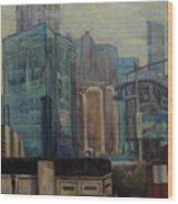 City In The Cityscape Wood Print