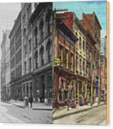 City - Knoxville Tn - Gay Street 1903 - Side By Side Wood Print