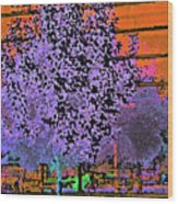 City Landscaping Fantasy Wood Print