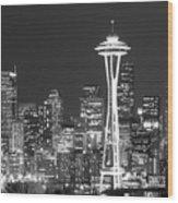 City Lights 1 Wood Print
