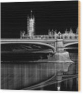 City Lights London Wood Print