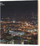 City Lights Over Bham, Al Wood Print