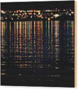 City Lights Upon The Water 1 Wood Print