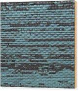 City Metal Grid Wood Print