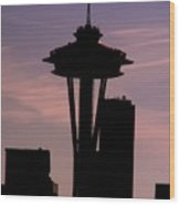 City Needle Wood Print