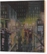 City Night Wood Print