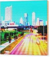City Of Austin From The Walk Bridge Wood Print