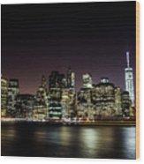 City Of Blinding Light Wood Print