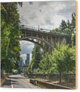 City Of Bridges Wood Print