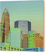 City Of Colors Wood Print