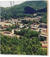 City Of Gatlinburg Wood Print