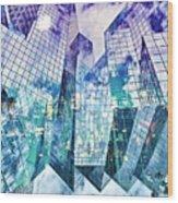 City Of Glass Wood Print