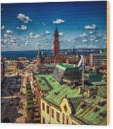 City Of Helsingborg Wood Print