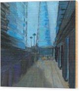 City Of London Street Wood Print