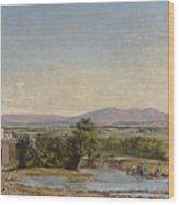 City Of Mexico From The Hacienda De Los Morales Wood Print