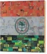 City Of Miami Flag Wood Print