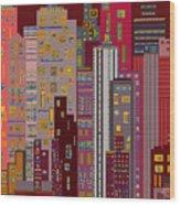 City Of Night Wood Print