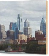 City Of Philadelphia Wood Print